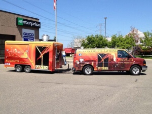 Van and Trailer Wrap for Seven