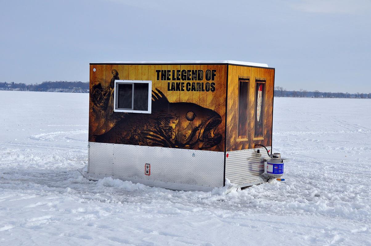 Brand Ink Ice Fishing Shack Daytime Wrap