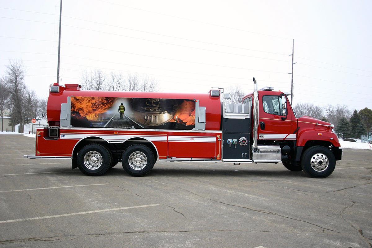 Brand Ink Firetruck Vehicle Wrap
