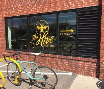 the-hive-salon-storefront-window-graphic