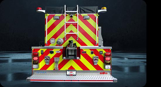 Brand Ink Fire truck chevron decals