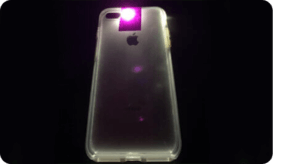 Smartphone with Purple Brand Ink Light Tabs