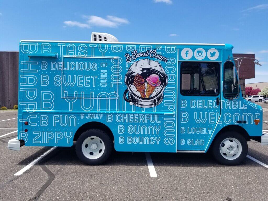 B Sweet Cream Food Truck Wrap