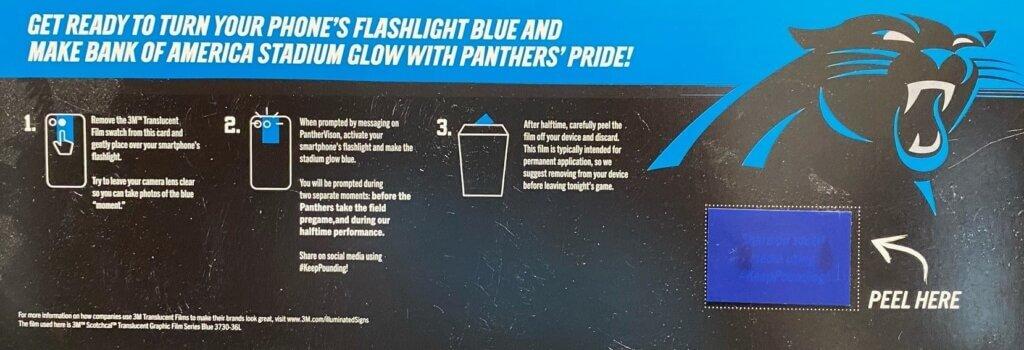 Carolina Panthers Blue Smartphone Light Tab