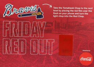 Atlanta Braves Red Out Smartphone Light Tabs